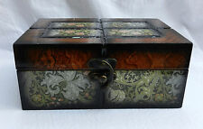 William Morris Print Walnut Keepsake Box for Special Things - New