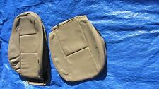 "02 03 Saab 9-3 Convertible Tan Driver Left Side Leather Seat Covers ""Turbo"" logo"