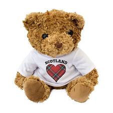 NUEVO - Escocia Tartán Heart Oso De Peluche - I Love Escocia - Regalo Presente