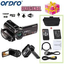 "ORDRO HDV-V7 1080P FHD Digital Video Camera Camcorder 24MP 16× Zoom 3.0"" T8Y2"