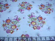 3 Yards Quilt Cotton Fabric - ITB Moon Cookie Butterfly Hollow Floral Bouquet W