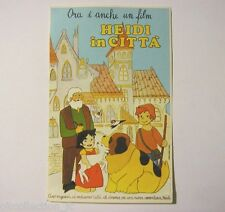 ADESIVO anni '70 / Old Sticker Vintage film cartoons HEIDI IN CITTA' (cm 10x16)