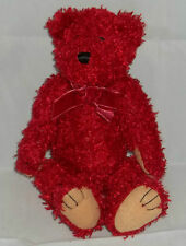 Bath and Body Works SNOW Red Jointed Teddy Bear Plush Stuffed  Bow Gift Toy
