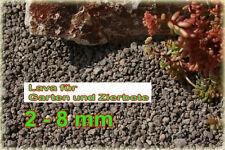 30Kg Lava 2 bis 8 mm für Zierbeet Gehweg Garten Beet oder Bachlauf zum Filtern