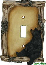 6 Pack: Black Bear Single Light Switch Plate Cover Western Rustic Lodge Cabin