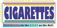 CIGARETTES Banner Sign NEW Larger Size for Smoke Shop Convenience Store Market