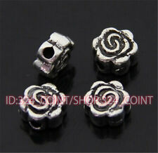 P440 50pc Tibetan Silver Charm flowers Spacer Beads accessories wholesale