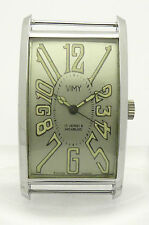 VIMY GENTLEMEN WATCH ART DECO DESIGN CHROME NICKEL GEHÄUSE 50er/60er JAHRE