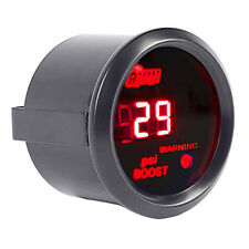 "Car Universal 2"" 52mm Black Shell Digital Red LED PSI Turbo Boost Gauge"