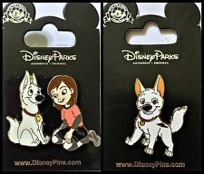 Disney Parks 3 Pin Lot BOLT cute puppy dog + PENNY and BOLT 2 pin set