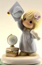 Precious Moments GIRL GRAD THROWING CAP GLOBE & BOOKS 640047 NIB