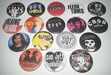 17 CBGB's badges The Ramones Dead Boys Blondie Police Misfits Cramps B-52's Punk