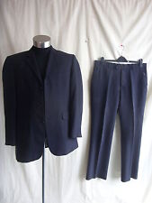 "Mens Suit - City Survival, 40"" reg., black pinstripe, 100% wool, 36""W, 31L 0064"