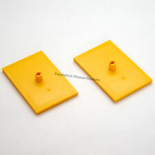LEGO 2 x Yellow Train Bogie Plates for 9V, RC, PF trains (NEW) 3677, 7938, 7939