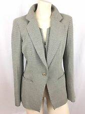 Armani Collezioni Women's Black White Wool Blazer Jacket ITALY 2 Houndstooth