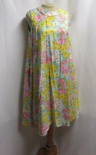 Vintage Dress 60s Cotton Summer Floral Beach Trapeze Modest Mod Flower Power POP