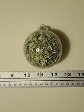 """67mm (~2.75"""") Round Ball Ornament Filled With Genuine Shredded US Currency Money"""