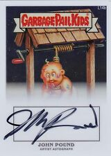 Garbage Pail Kids Chrome Series 1 - WILL HUNG L14b - JOHN POUND AUTOGRAPH