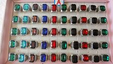 Joblot 50pcs Mixed Glass Crystal Antique design Rings - NEW Wholesale A