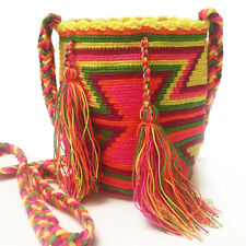 Small Mini Authentic Wayuu Bag Mochila Hand Woven #42