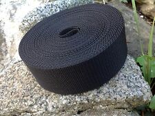 10 Metres Black 50mm 2 Inch Nylon Webbing