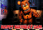 Large Five Nights at Freddys FREDDY Party Cake Decoration icing sheet Custom
