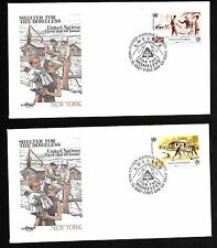 UN NY #495-496 Homeless Shelter - Set of 2 Artmaster FDCs
