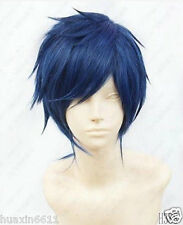 Rei Ryugazaki Short Blue Black mix Cosplay Wig Anime costume party hair+gift