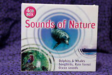 Sounds of Nature, Dolphins, Whales, Songbirds, Rain Forest, Ocean Sounds SFX 4CD