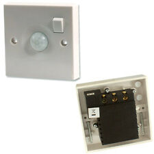 ON/OFF & PIR MOTION SENSOR WALL/CEILING LIGHT SWITCH 10A 240V MOVEMENT AUTOMATIC