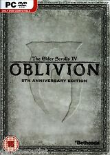 The Elder Scrolls IV 4 Oblivion 5th Anniversary Edition for PC Brand New Sealed