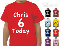 PERSONALISED CUSTOM BIRTHDAY CHILDRENS KIDS T SHIRT TSHIRT BOYS GIRLS AGES 1-13