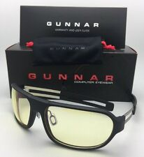 New GUNNAR Computer Glasses TROOPER ONYX Matte Black Frame w/Amber Yellow Lenses