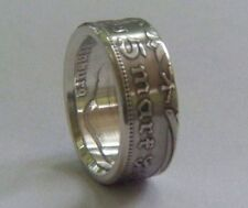 GERMAN 5 reichsmark silver ring  size 7 - 11