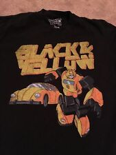 Transformers Black And Yellow Small T Shirt Vintage Retro Style 80s Cartoon