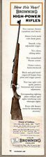 1960 Print Ad Browning High-Power Bolt Action Rifles St Louis,MO