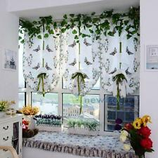 Roman Fold Shade Blind Light Filtering Fabric Butterfly Window Treatment Curtain