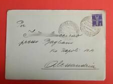 Regno d'Italia 1 lira Posta aerea busta viaggiata 1943