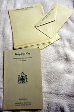1954 Gorham State Teachers College Maine Recognition Day Booklet & Letter Heads