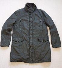 HUGO BOSS ORANGE Men's OBITO-W Dark Brown WAX COTTON w Warm Inner Layer Jacket