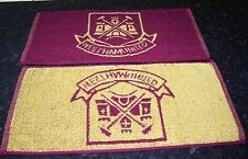 WEST HAM UNITED Bar Towel 100% cotton Hammers & Boleyn crest FREE POSTAGE UK