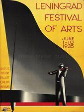 ADVERTISING EXHIBITION FESTIVAL LENINGRAD PIANO VIOLIN ART POSTER PRINT LV797