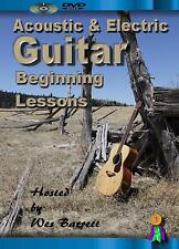 BEGINNER GUITAR INSTRUCTION DVD VIDEO ACOUSTIC & ELECTRIC GUITAR LESSONS