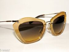 MIU MIU MIUMIU 10NS 10N 10 PDA1F2 GLITTER GOLD GRADIENT  SUNGLASSES  NEW