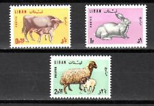LEBANON - LIBAN MNH SC# 440-442 ANIMALS STAMPS
