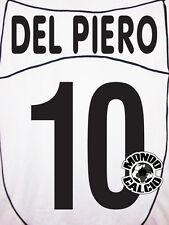DEL PIERO PERSONALIZZAZIONE JUVENTUS AWAY NOME E NUMERO KIT SET NAME 2002-03