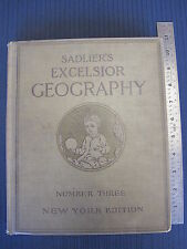Sadlier's Excelsior Geography Number Three 3 Catholic School Book New York Ed.