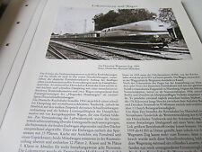 Deutsches Eisenbahn Archiv  12 Loks Wagen 3218 Der Henschel Wegmann Zug 1935