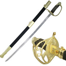 C.S.A Officers Rapier Sword Black & Gold #8851CS
