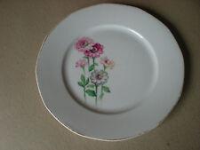 "TK Thuny Czechoslavakia 10"" Dinner Plate Zinnia Floral Pattern  Flowers"